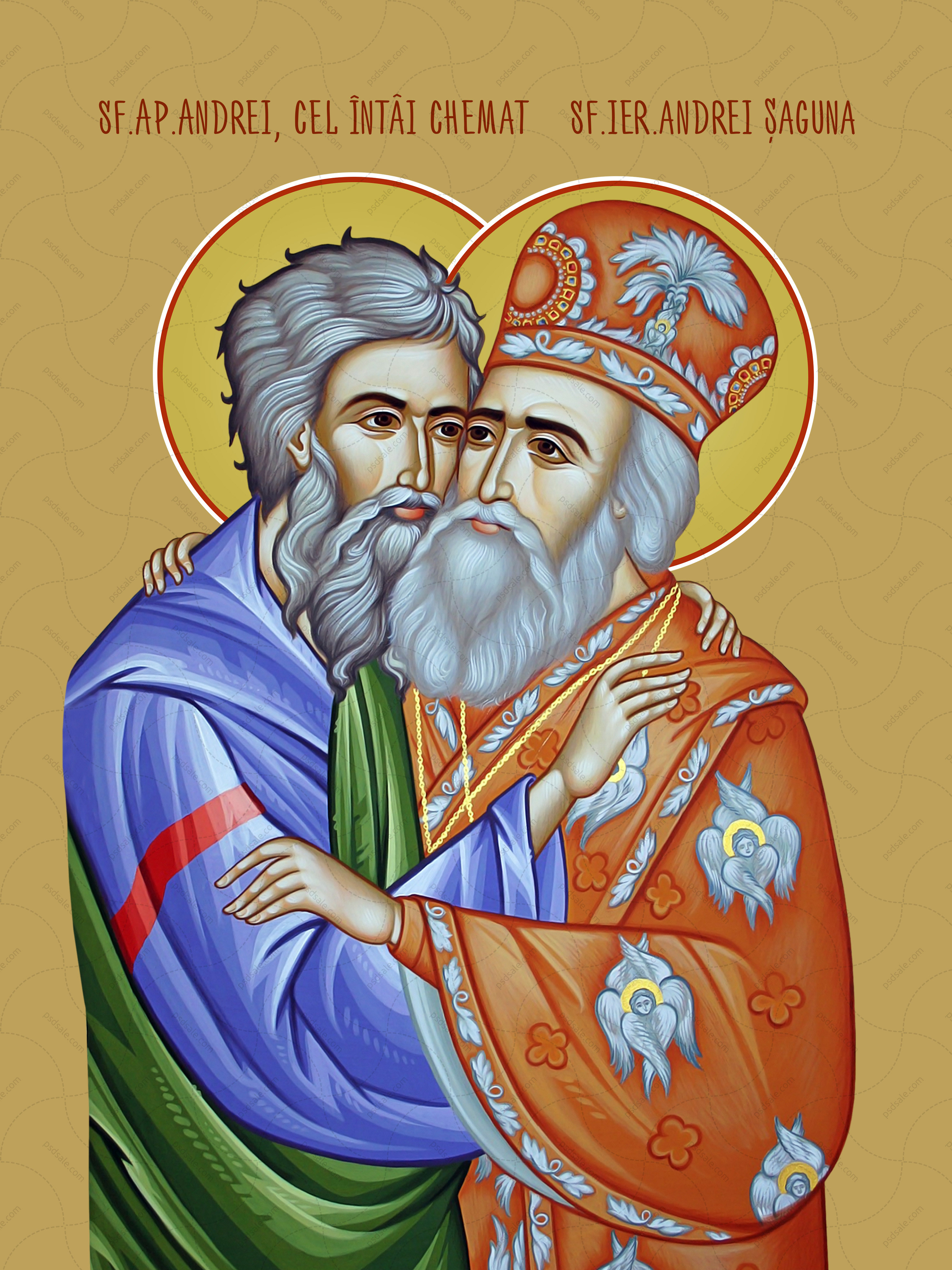 Андрей Первозванный и Андрей Сагуна (Sf. Ap. Andrei, Sf. ier. Andrei Şaguna)