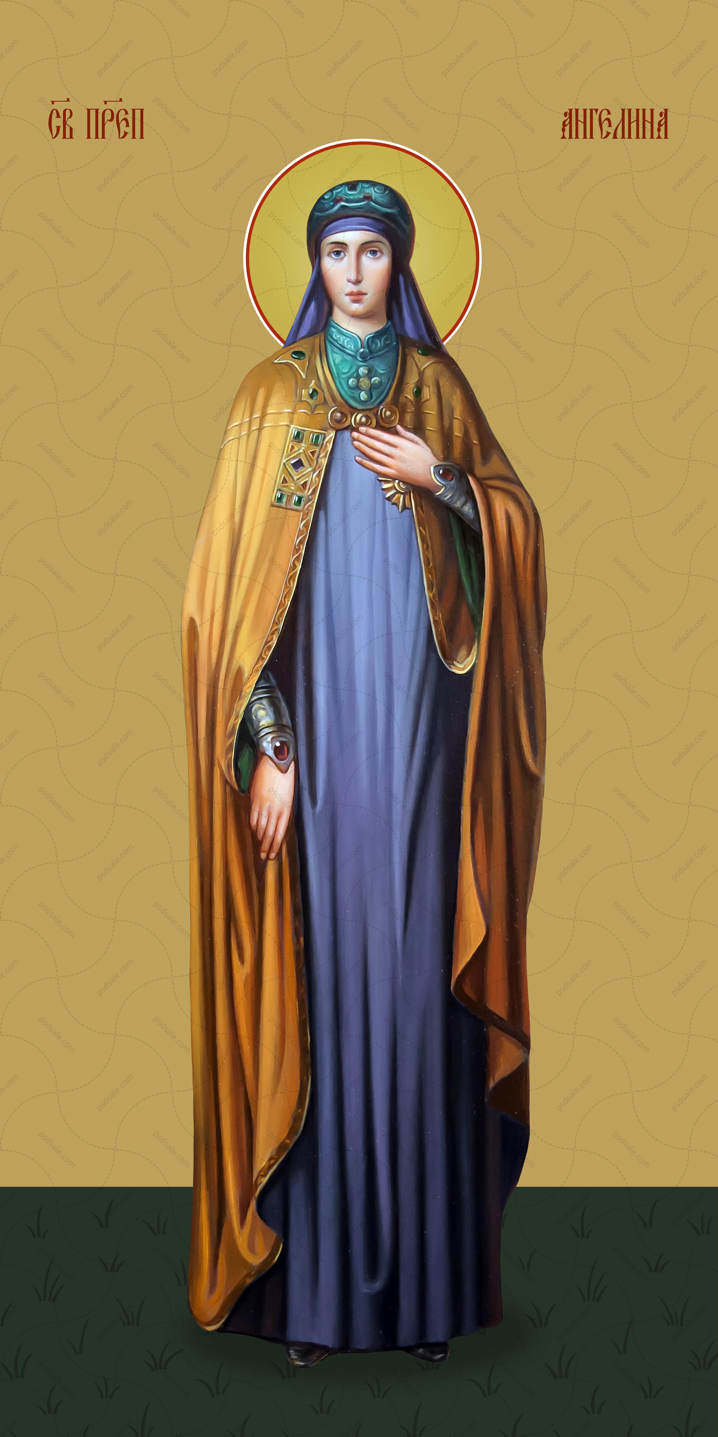 Мерная икона, Ангелина Сербская, святая