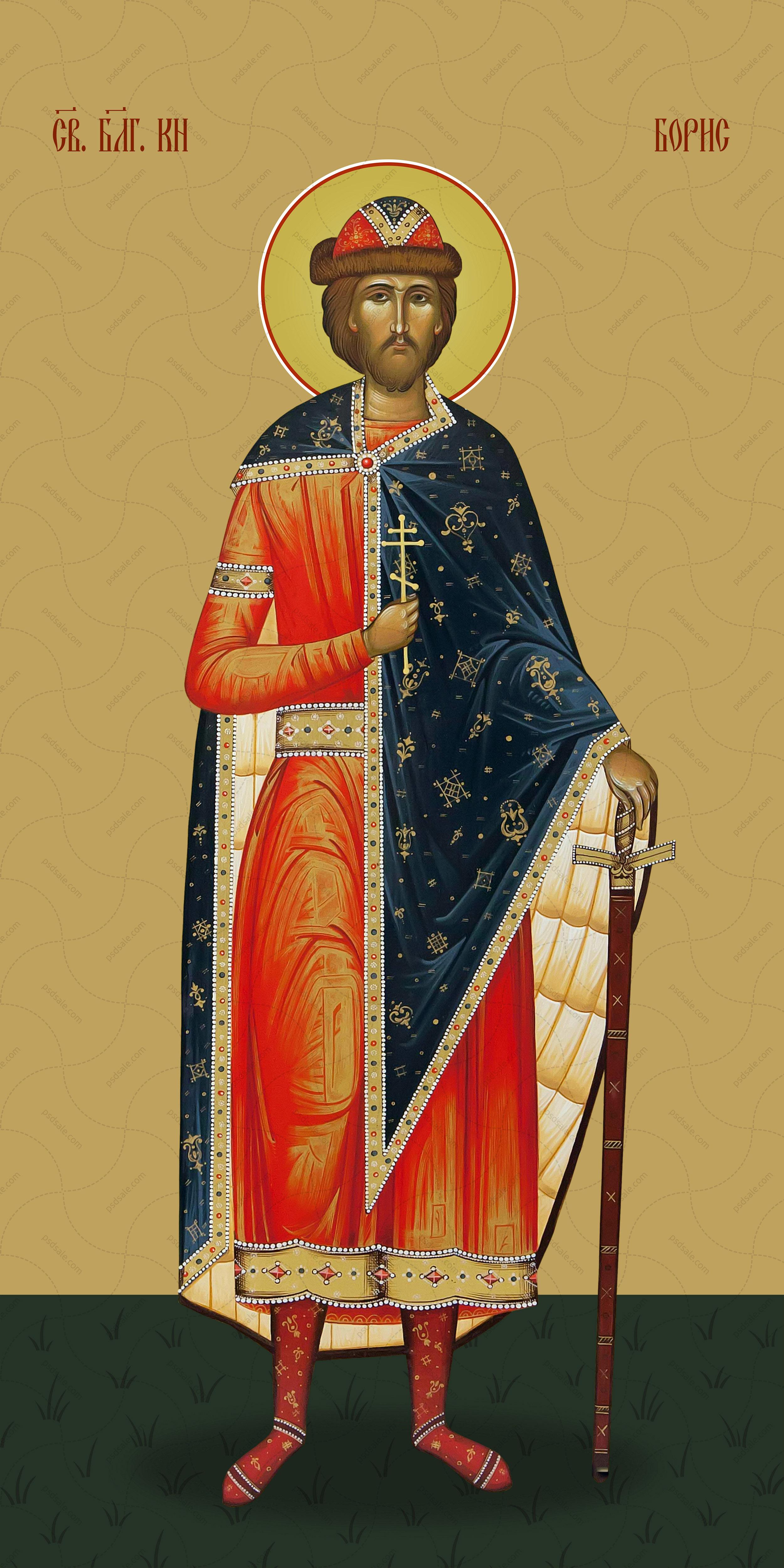 Мерная икона, Борис Туровский, святой