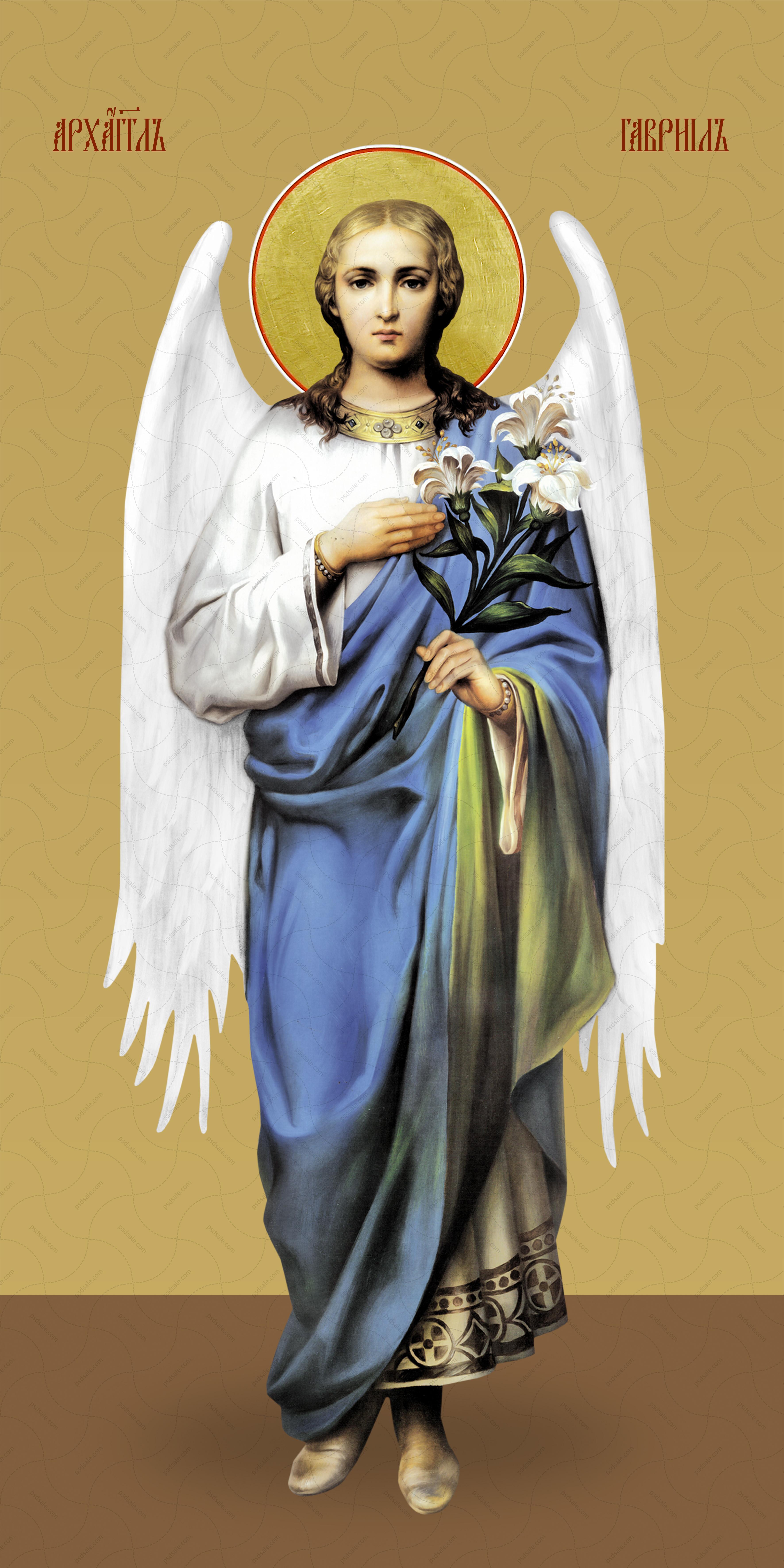 Мерная икона, Гавриил, архангел