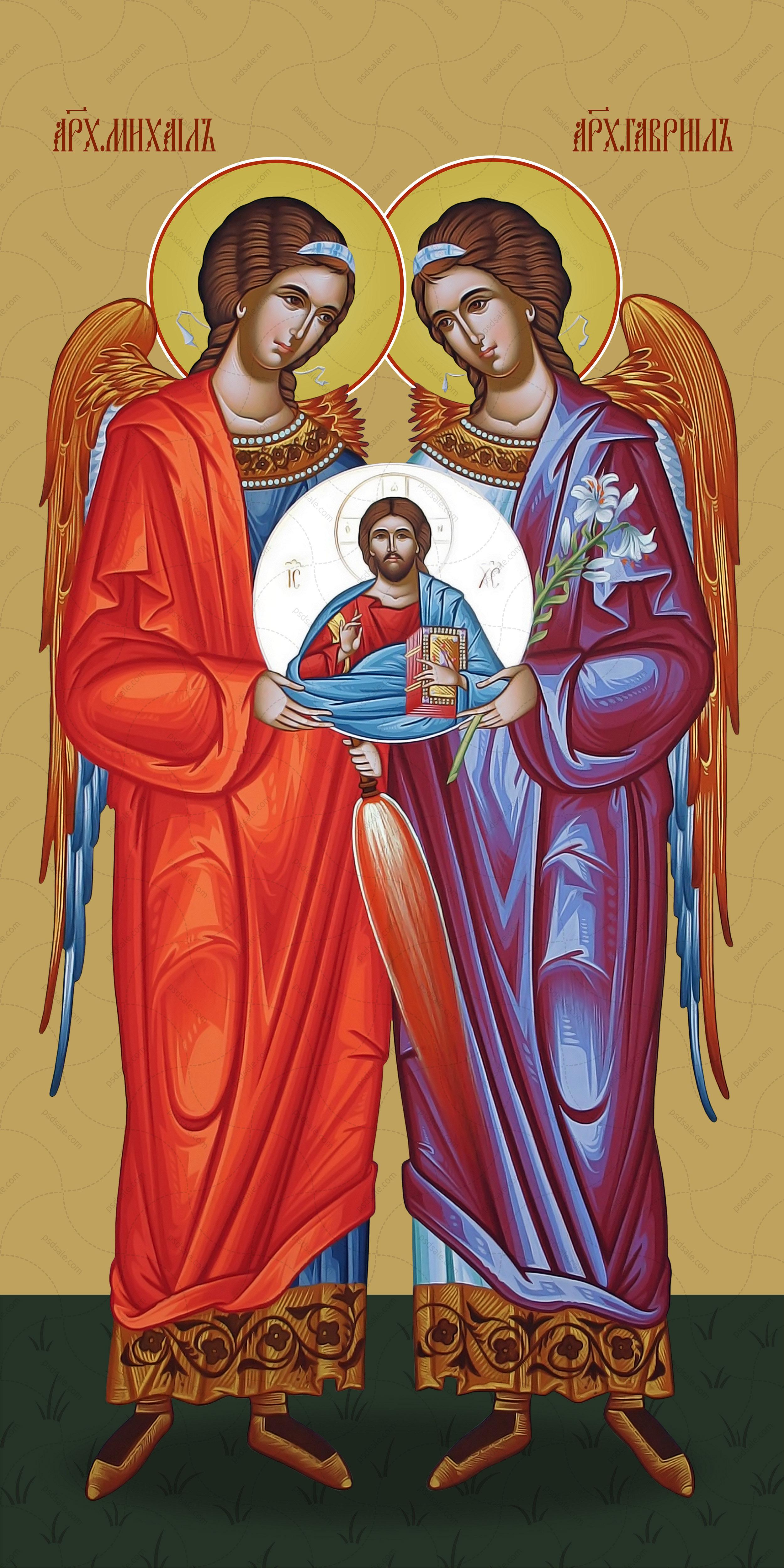 Мерная икона, Гавриил и Михаил, архангелы
