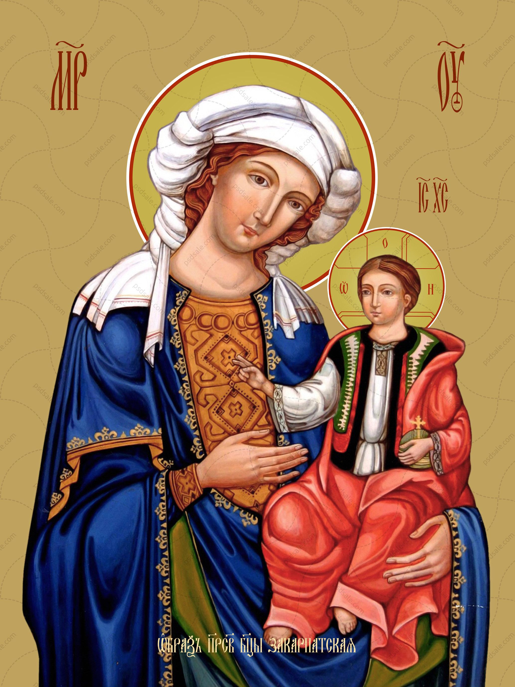 Закарпатская икона божьей матери