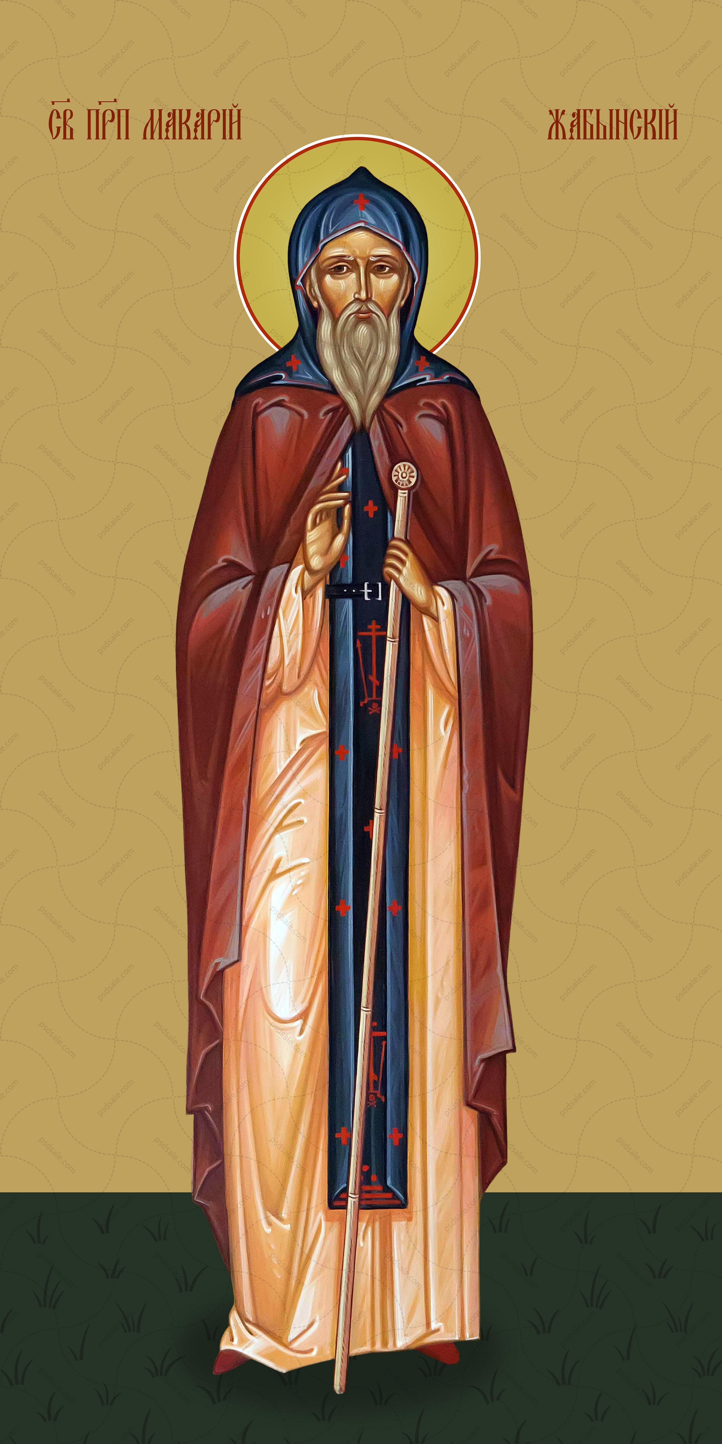 Мерная икона, Макарий Жабынский, преподобный