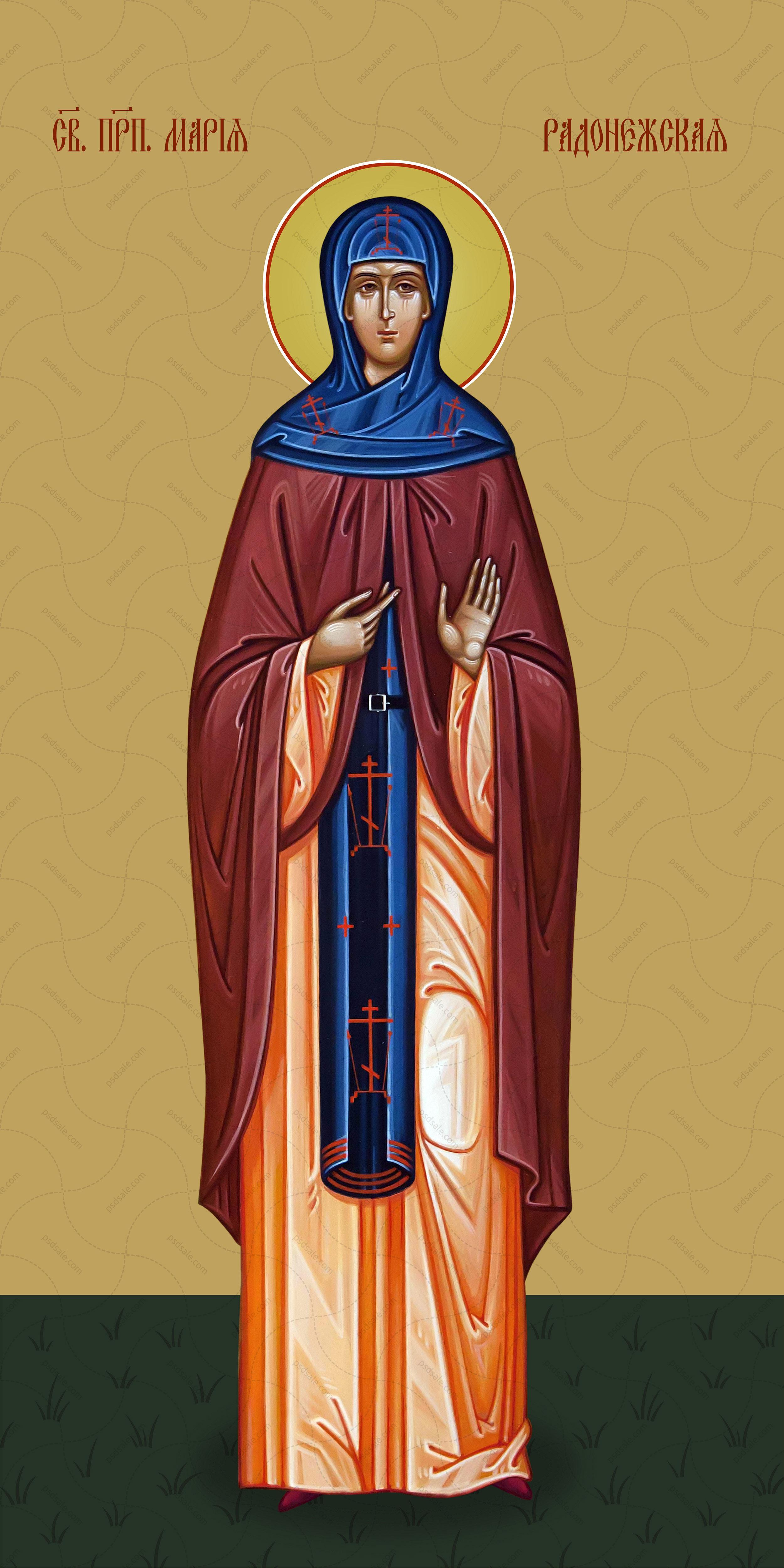Мерная икона, Мария Радонежская, святая преподобная