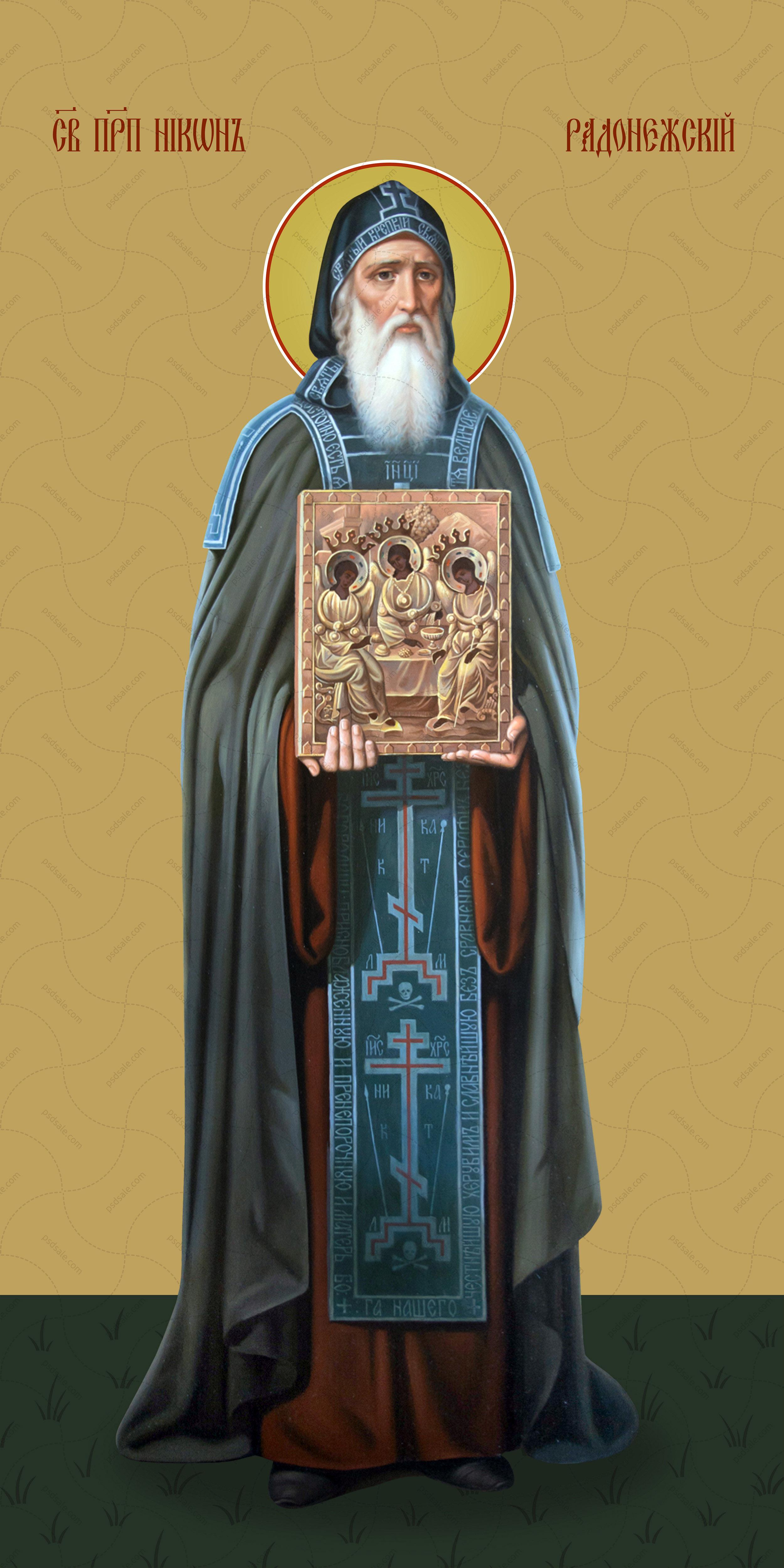 Мерная икона, Никон Радонежский, преподобный