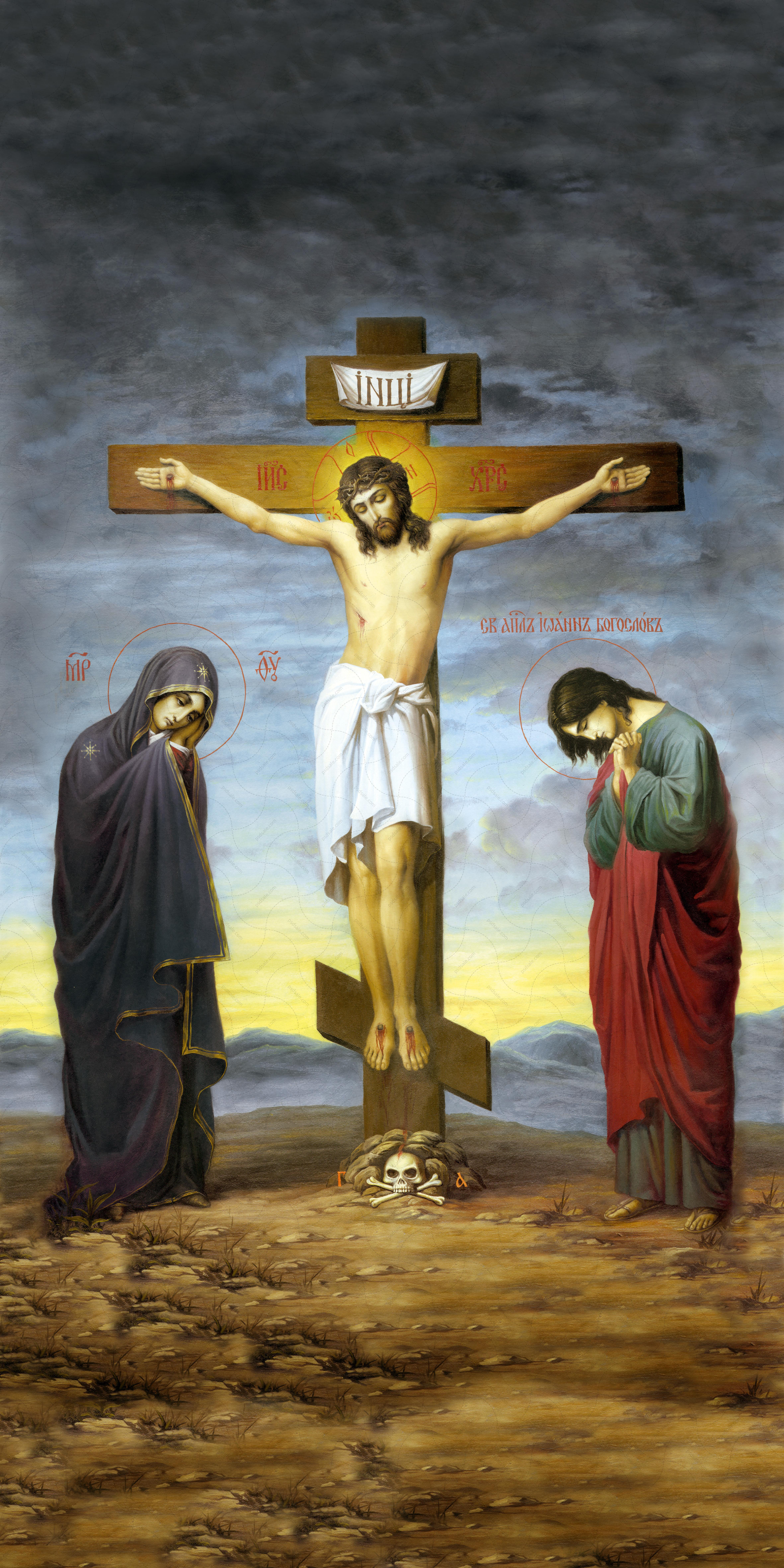 Мерная икона, Распятие Христа