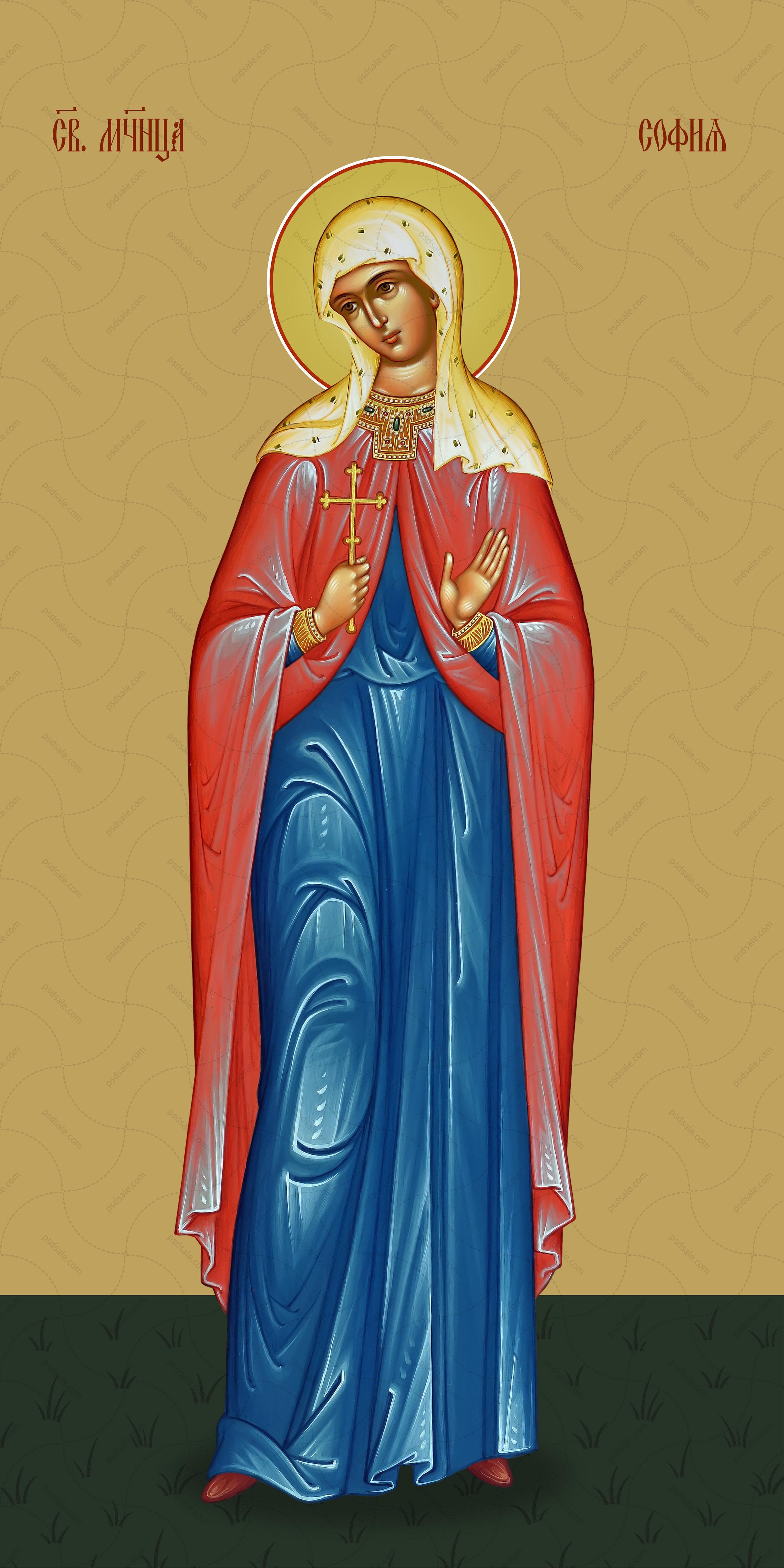 Мерная икона, София Римская, мученица