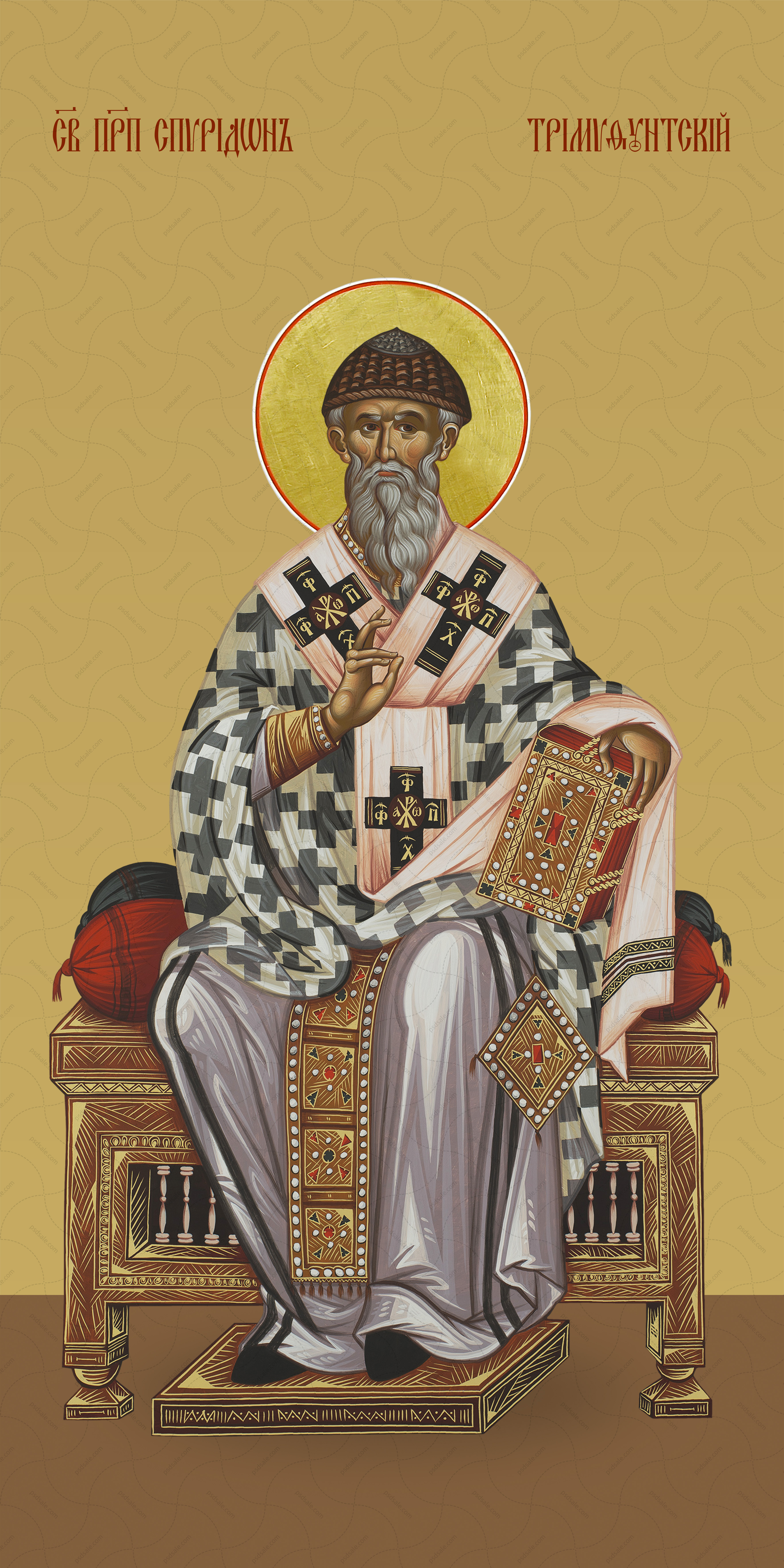 Мерная икона, Спиридон Тримифунтский, преподобный