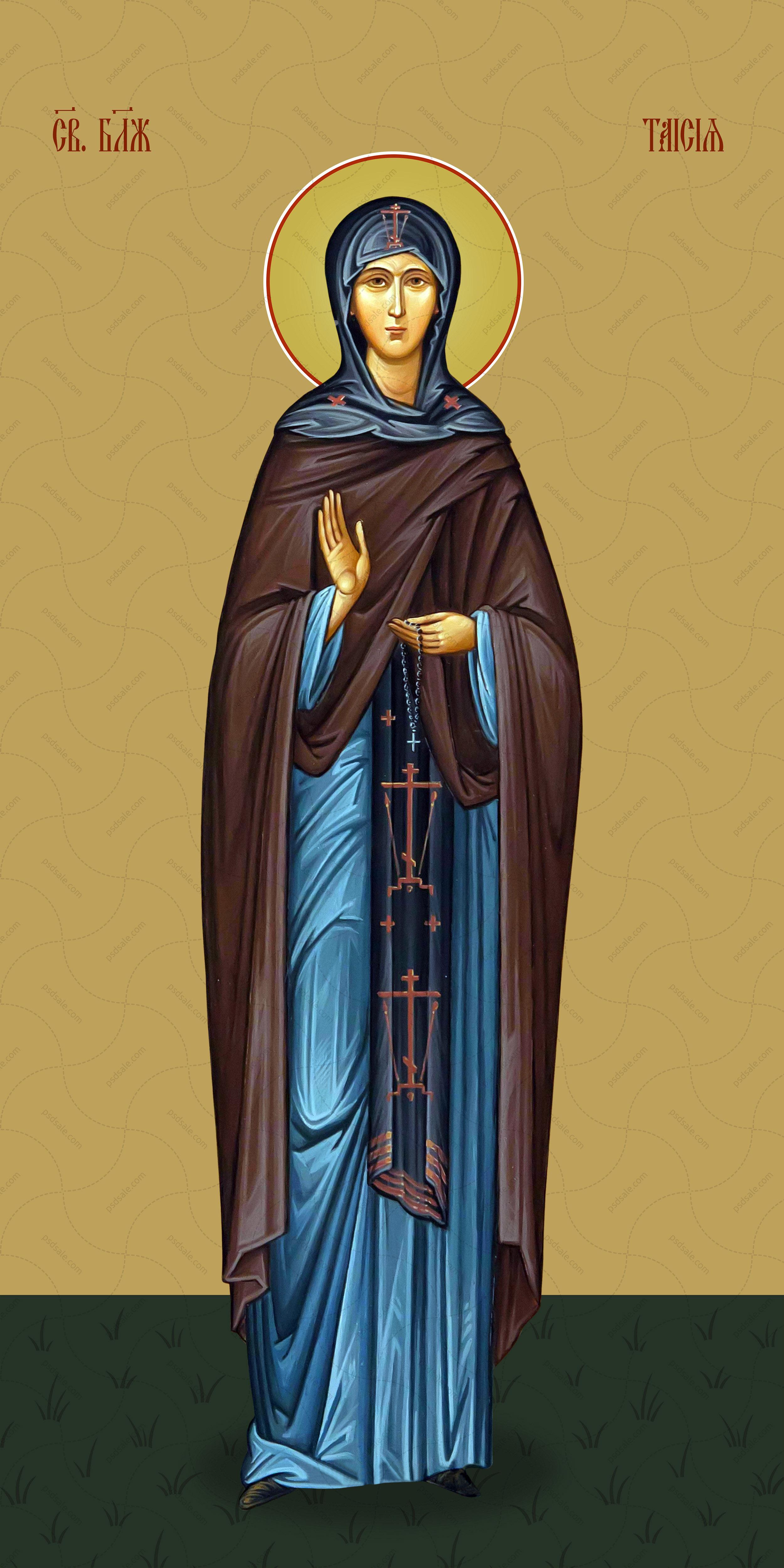 Мерная икона, Таисия Египетская, святая блаженная