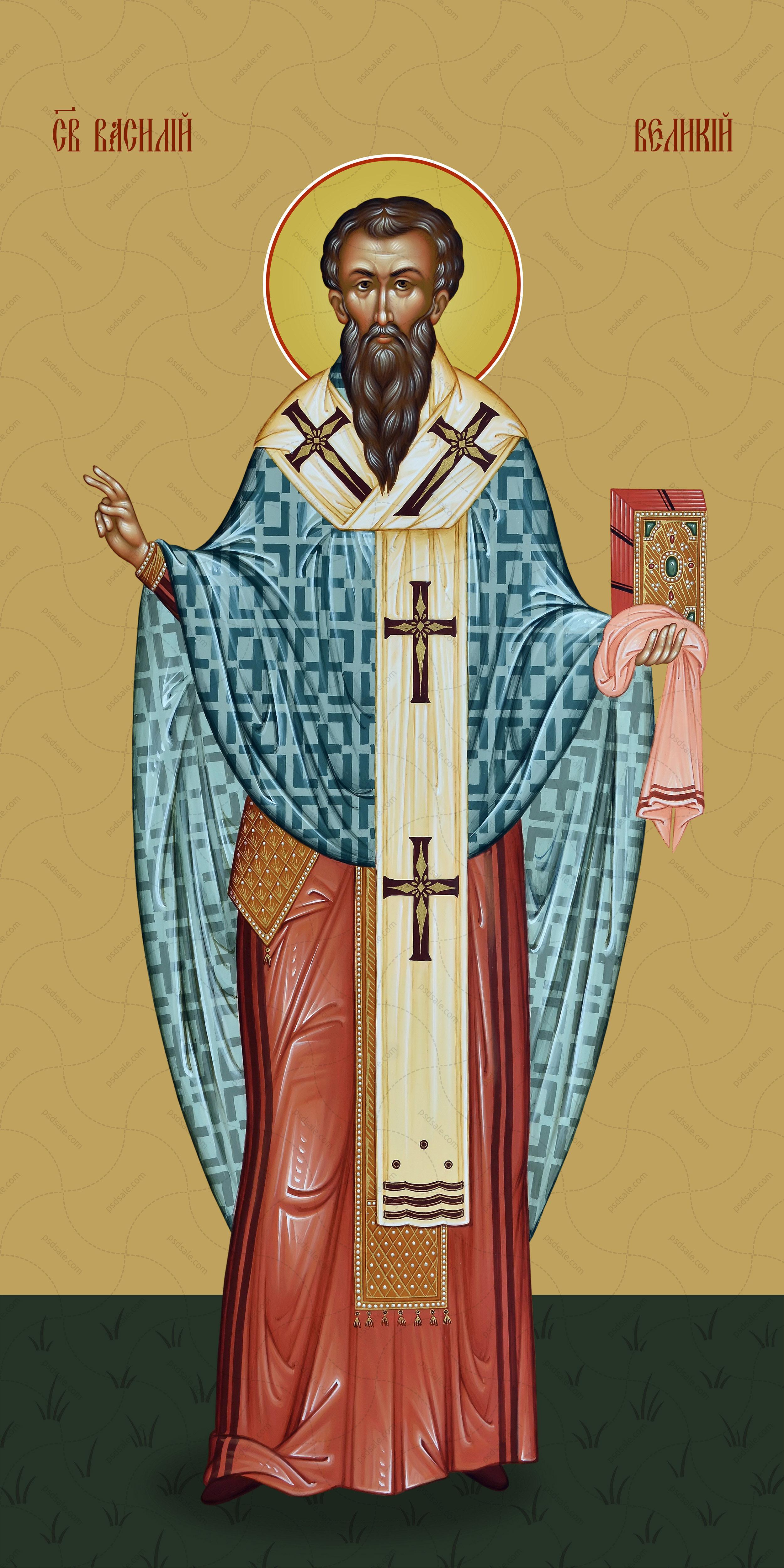 Мерная икона, Василий Великий, святой