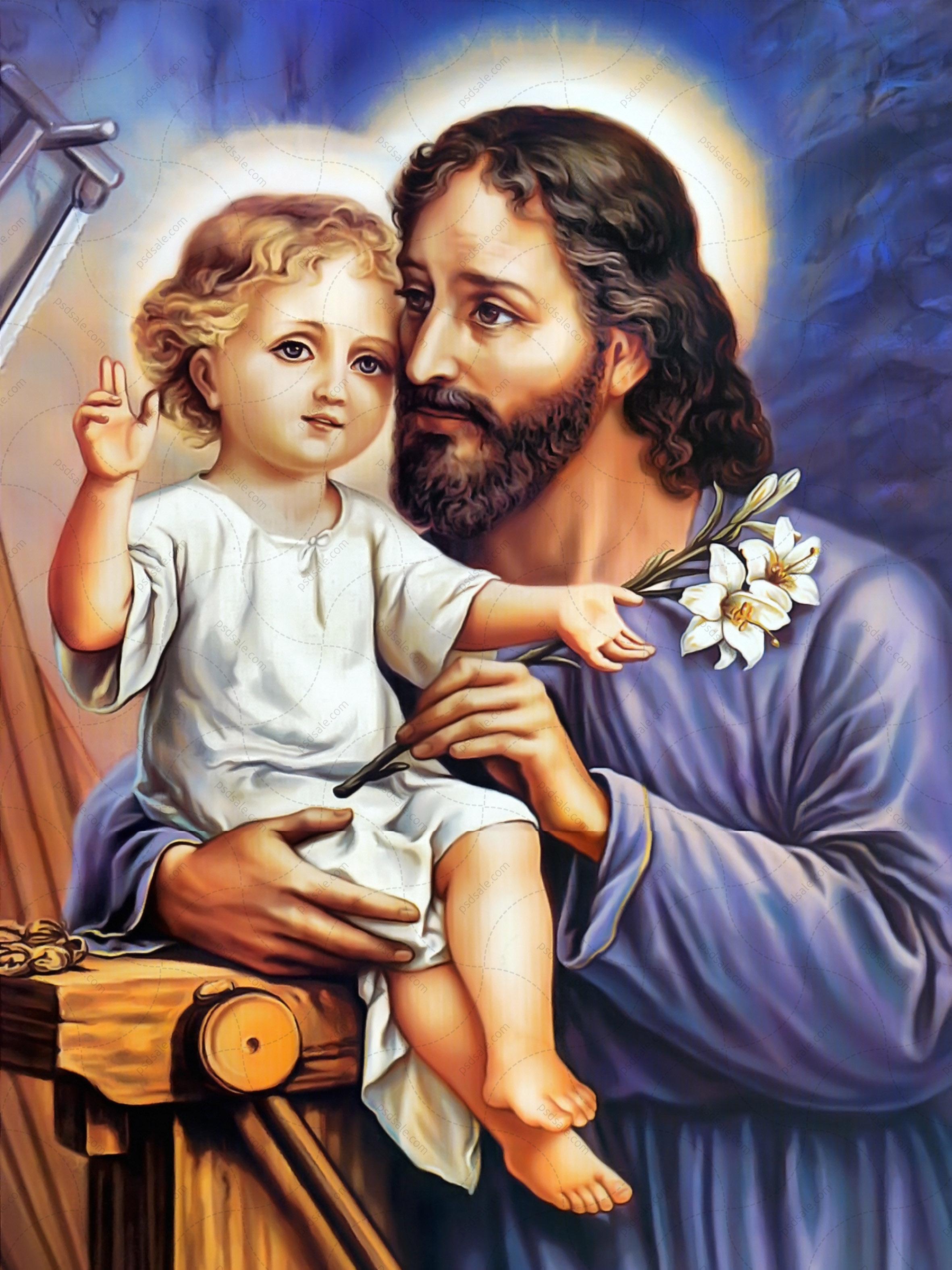 Святой Иосиф с младенцем