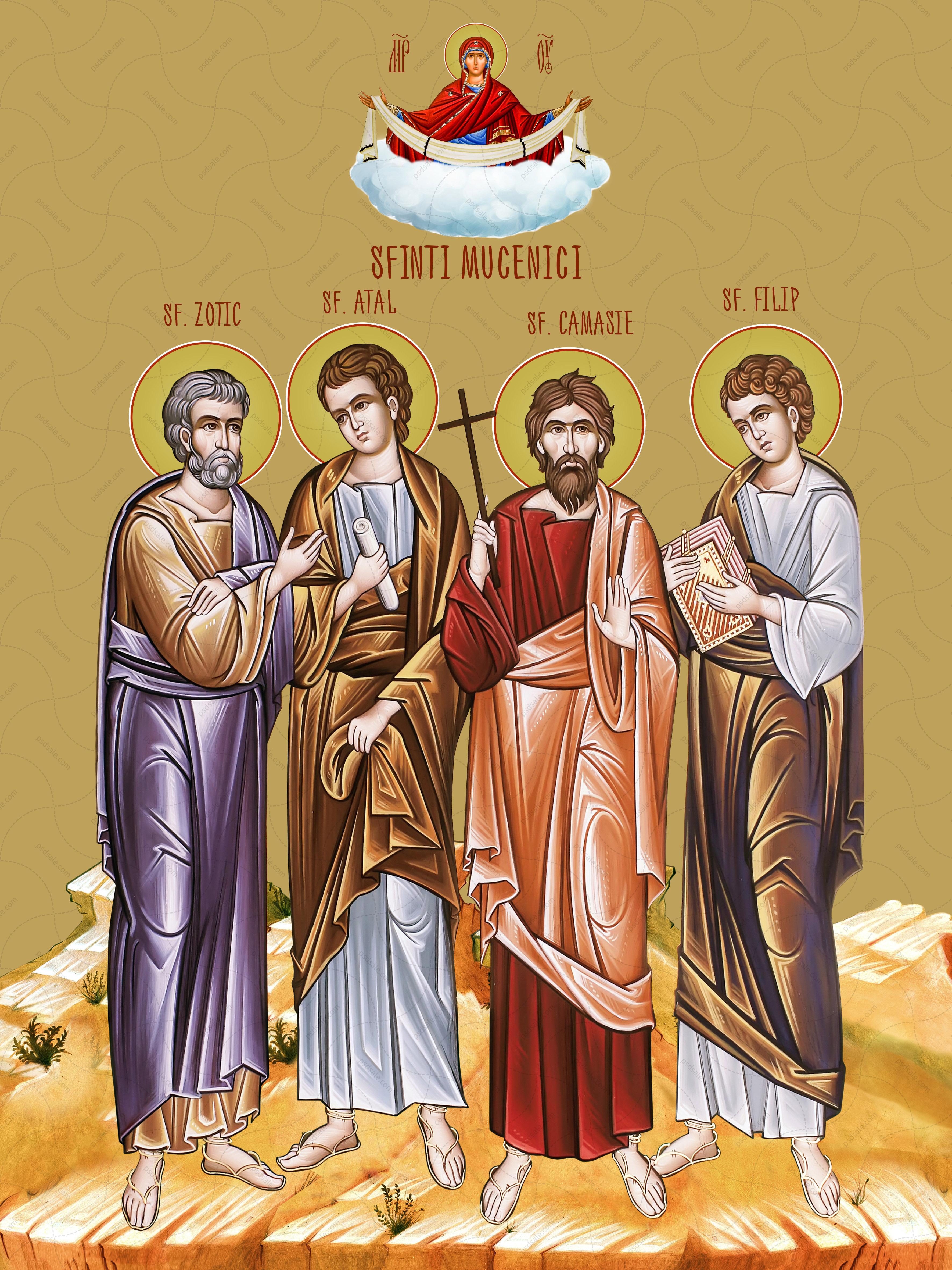 Мученики Зотик, Атал, Камаси, Филипп / Sfinții Mucenici Zotic, Atal, Camasie și Filip