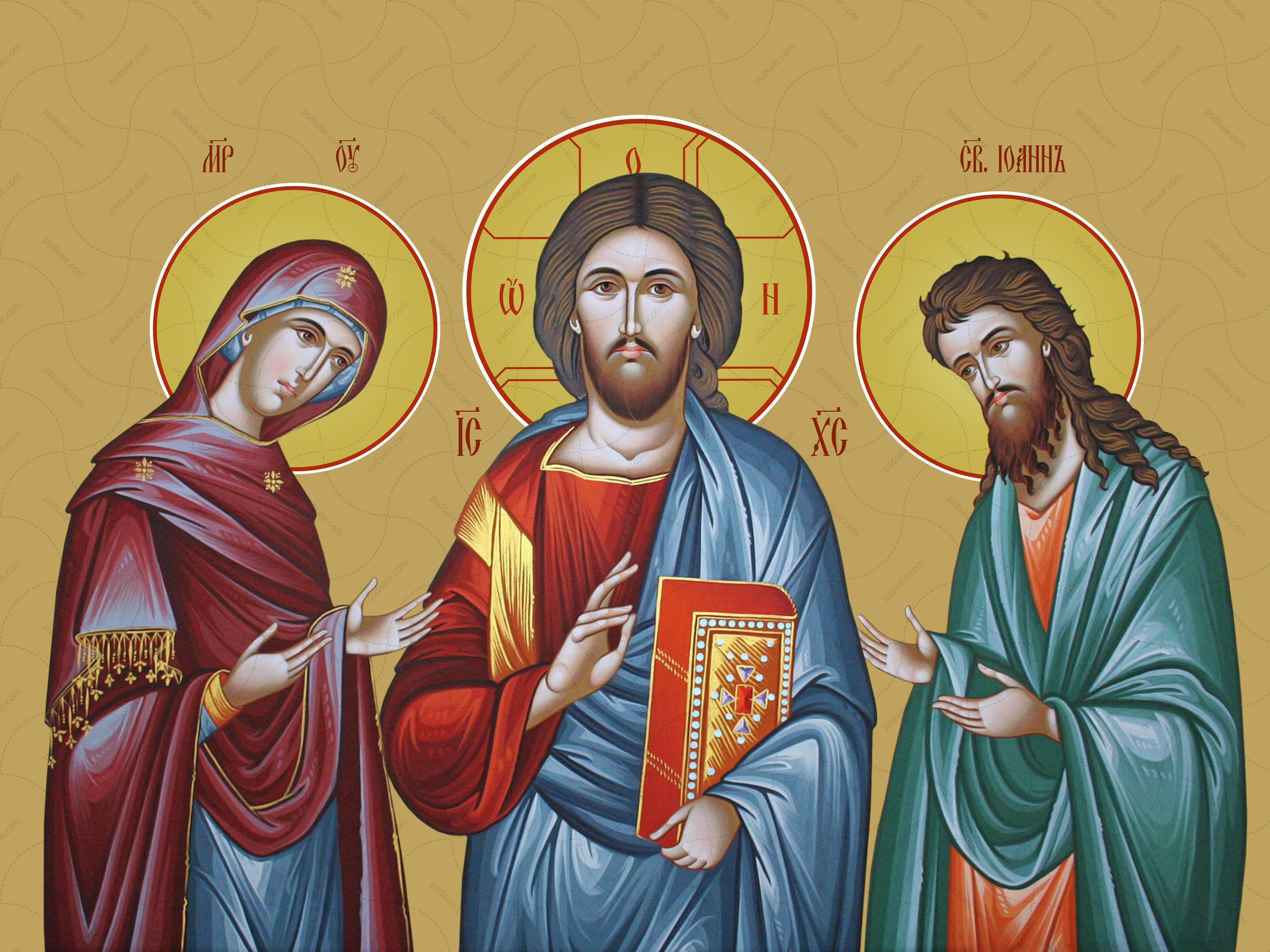 Вседержитель, Святая Мария и Иоанн Богослов