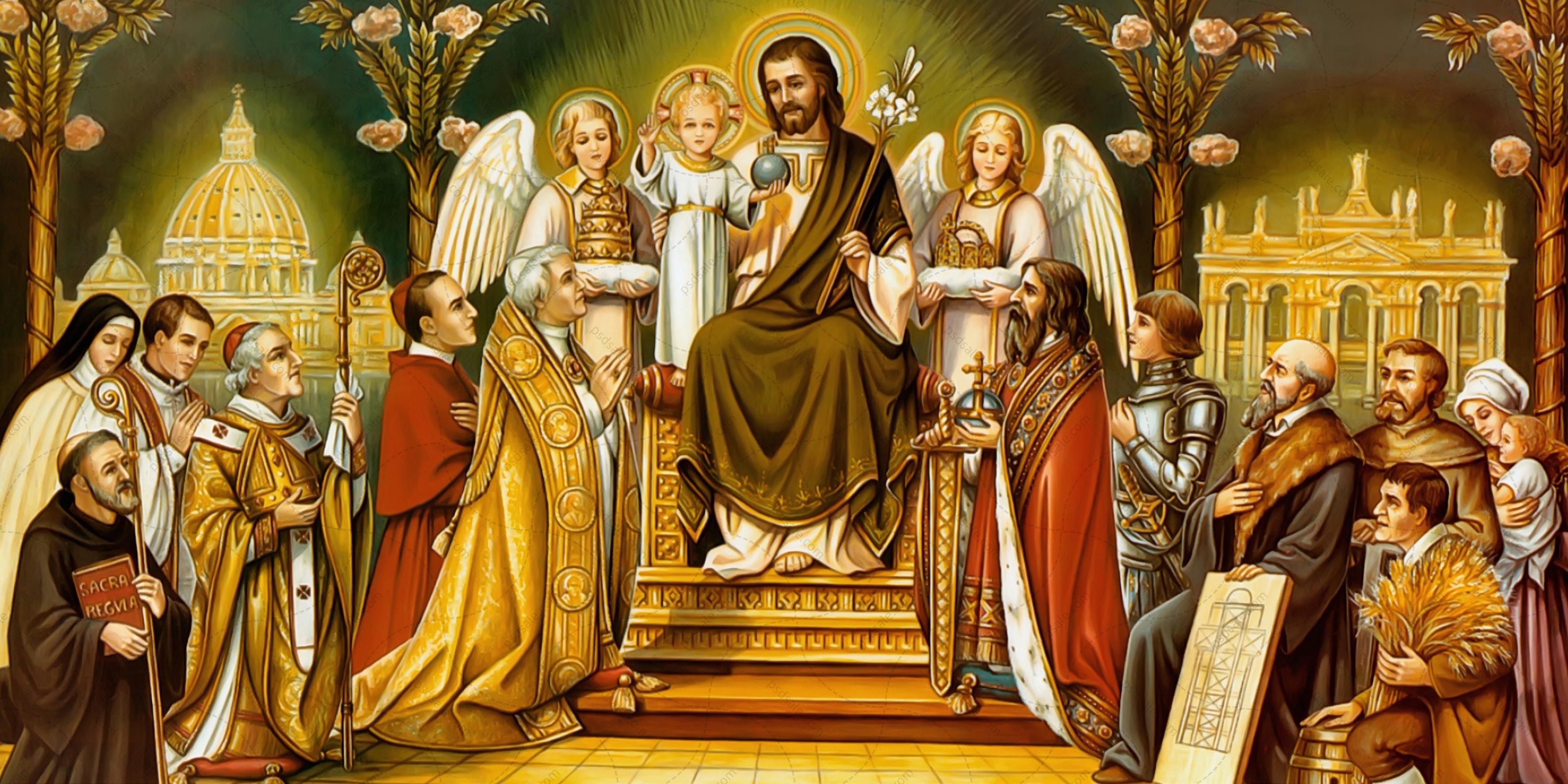 Иисус на троне