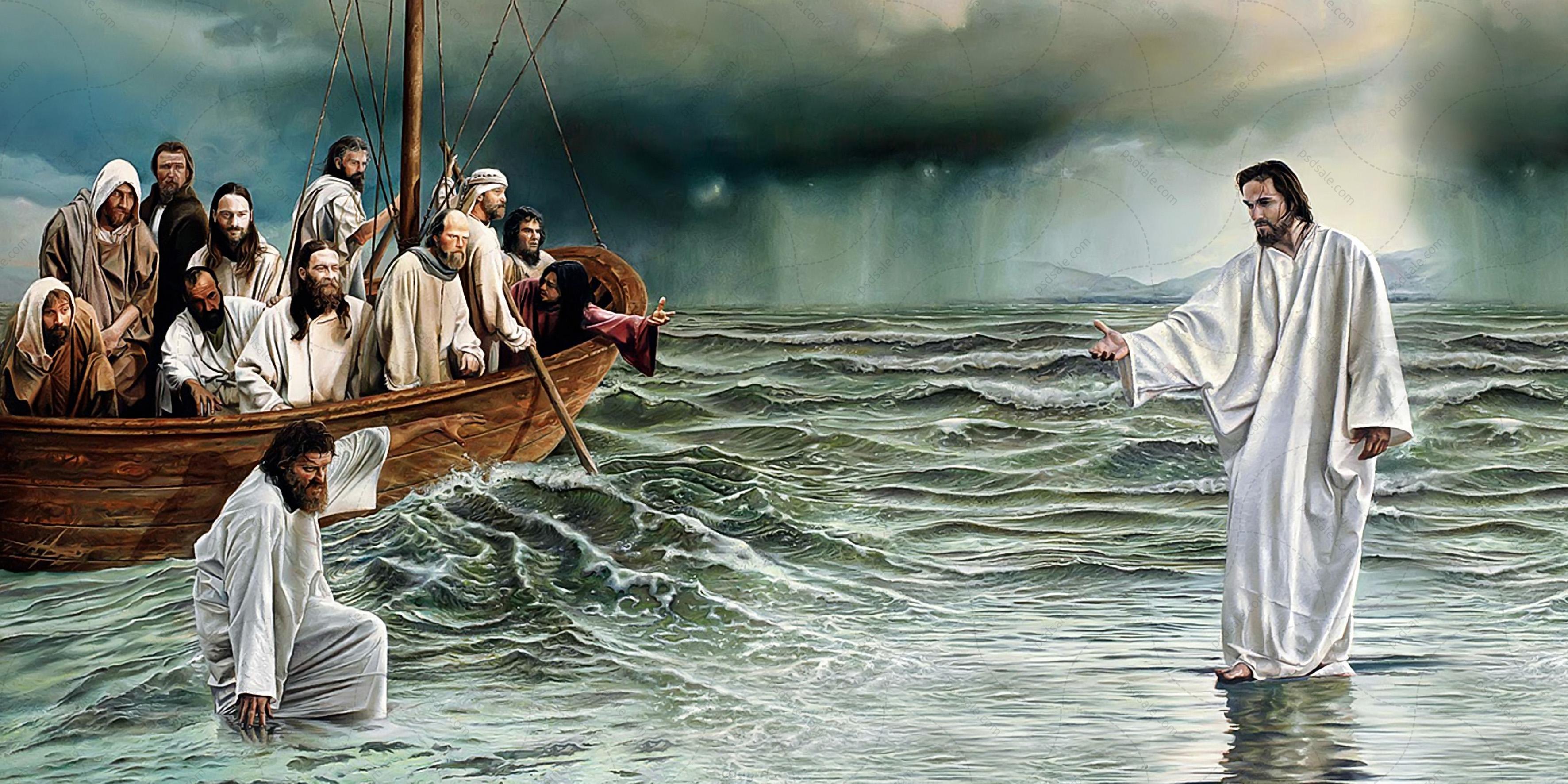 хождение по воде иисусом картинки чаще людей